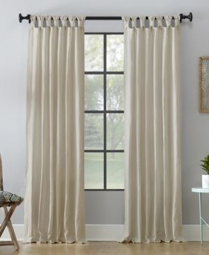 Set of 2 Archaeo 52  x 95  Washed Cotton Twist Tab Curtain