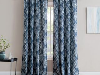 Inspired Surroundings Pair of Window Panels  Alma   Blue