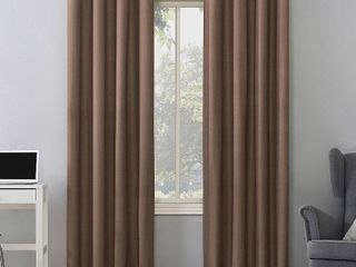 Pair of 95 x50  Duran Thermal Insulated Total Blackout Grommet Top Curtain Panels Orange   Sun Zero