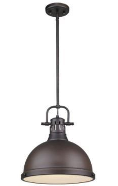Golden lighting Duncan Rubbed Bronze lamp