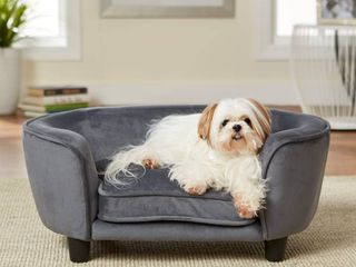 Enchanted Home Pet Coco Pet Sofa   Dark Grey Retail 91 99