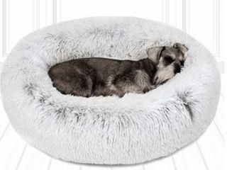 Friends Forever Coco Faux Fur Self Warming Med Dog Bed