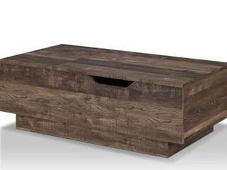 Furniture of America Uver Rustic Oak lift top Coffee Table  Retail 278 49