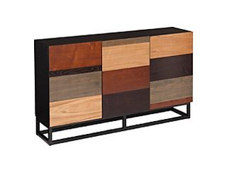 Southern Enterprises Harvey Console Table in Wood and Black