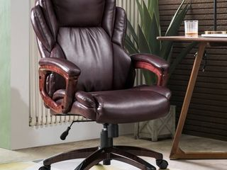 Ovios Executive Office Chair High Back Desk Chair leather Computer Desk Chair for Home Office  Retail 234 49