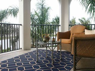 Balta Signature Home Glenrose Navy blue Polypropylene Area Rug  7 10 x 10