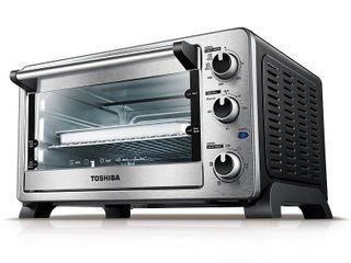 Toshiba 6 Slice Convection Toaster Oven  Stainless Steel