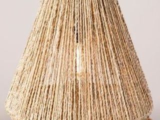 The Curated Nomad Westlake Seagrass Shade  16 inch Pendant