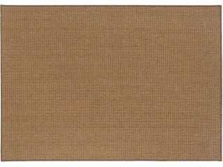 Oriental Weavers of America Morotai Solid Indoor Outdoor Polypropylene Rug  Tan