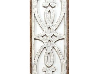 Stratton Home Decor Heart and Fleur Wood Panel Wall Decor