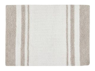 24 x72  Spa Cotton Reversible Bath Rug Taupe Brown