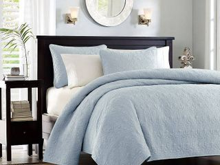 Blue Vancouver Coverlet Set King 3pc