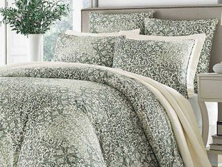 Green Abingdon Comforter Set  King    Stone Cottage