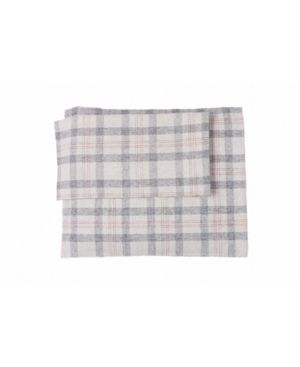 Flannel Check Plaid Sheet Set King Bedding