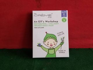 The Creme Shop Elf s Workshop Firm   Plump Set Of 3 Facial Masks   In Box