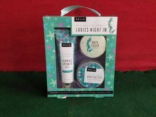 ladies Night In Sea Salt Citrus Shower Gel Bath Fizzer Body Butter Hallu