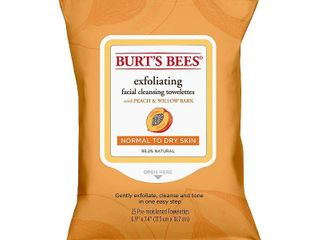 Burt s Bees Peach and Willow Bark Facial Cleansing Towelettes   25ct