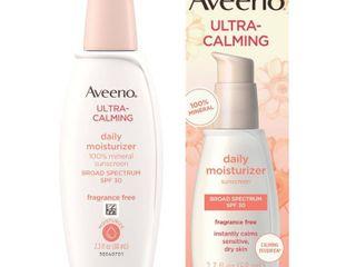 Aveeno Ultra Calming Daily Moisturizer Sunscreen Broad Spectrum SPF 30   lOTION