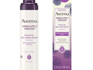 Aveeno ABSOlUTElY AGElESS leave on day mask Broad Spectrum SPF 30   lOTION