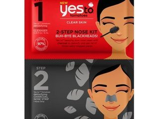 2 Yes To Tomatoes 2 Step Single Use Nose Kit Buh Bye Blackheads