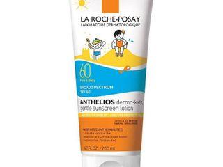 la Roche Posay laboratoire Dermatologique Anthelios Dermo Kids Gentle Face and Body Broad Spectrum SPF 60 Sunscreen Water Resistant 80 Minutes   lOTION