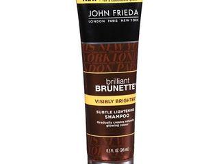 John Frieda Brilliant Brunette Visibly Brighter Subtle lightening Shampoo 8 3 oz