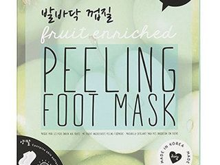 Peeling Fruit Enriched Green Apple 7 x 6 Exfoliating Gel Sock Foot Mask