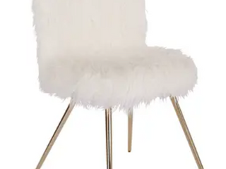 Silver Orchid Conklin Faux Fur Accent Chair