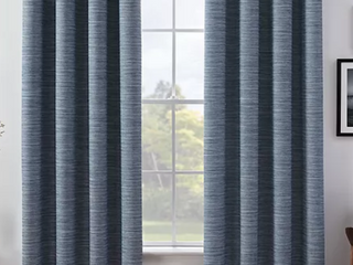 Rivet Contemporary Curtains   Set of 2