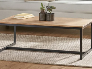Georgia Acacia Wood Coffee Table by Christopher Knight Home