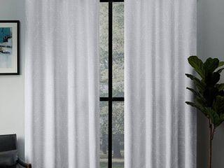 Kilberry Woven Blackout Grommet Top Window Curtain Panel Winter   Set of 2