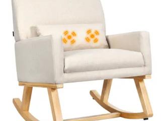 Upholstered Rocking Chair w  lumbar legs