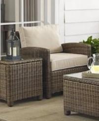 Bradenton Outdoor Wicker Chair w  Cushions