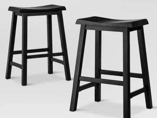 Black Wooden Barstool
