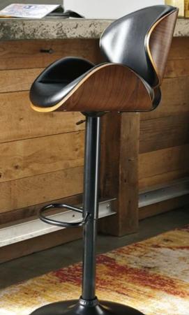 Strick   Bolton lega Modern Adjustable Swivel Barstool