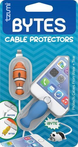Tzumi   Bytes Connector Plug Protector  2 Pack    Whale Clownfish