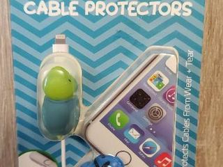 Tzumi Bytes Cable Protectors   Universal    turtle   Fish  In Package