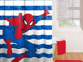 Spiderman Fabric Shower Curtain  1 Each