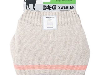 Dog Sweater  Oatmeal Heather Adorbs   Medium