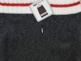 Walmart Brand Dog Sweater Standard Medium 17 22 Off Black White W Red Strip