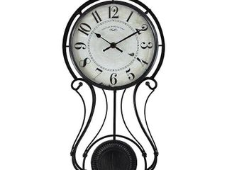 9  x 20  Harwich Pendulum Wall Clock Black   FirsTime