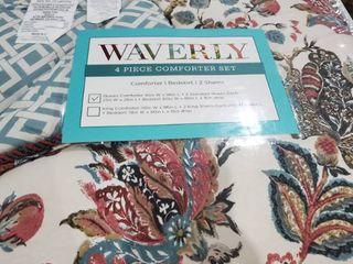 Waverly 4 Piece comforter Set queen set