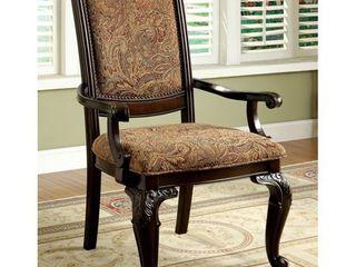 Furniture of America Kova Traditional Cherry Fabric Arm Chair Retail 525 99