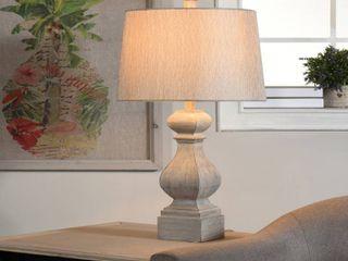The Gray Barn Willowsun Grey Distressed Turn Style Table lamp