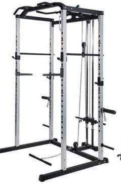 VANSWE Home Gym Power Rack Silver