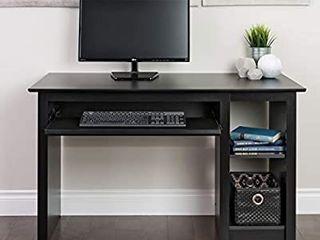 prepac black computer desk black