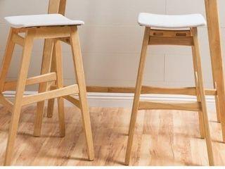 Carson Carrington Forssa 2 piece Wood Rectangle Bar Set  Retail 249 99