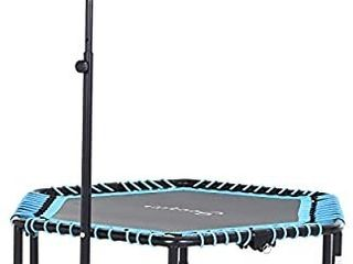 Soozier Portable   Foldable Small Exercise Trampoline with 3 level Adjustable T Bar  Great for Adults and Children  Retail 119 49