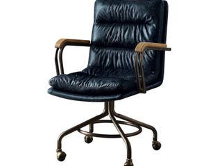 ACME Harith Executive Office Chair  Vintage Blue Top Grain leather  Retail 431 99