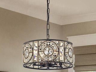Rowsen 4 light Antique Bronze Metal Chandelier brand Warehouse of Tiffany